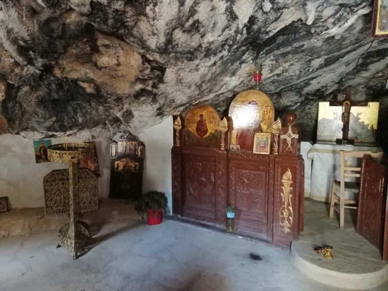 Rock chapel near Lentas