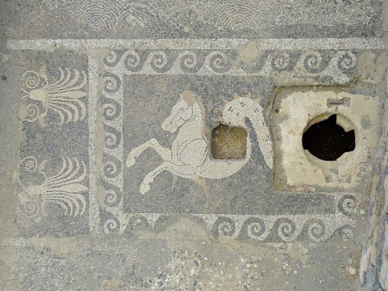 Asclepius sanctuary mosaic